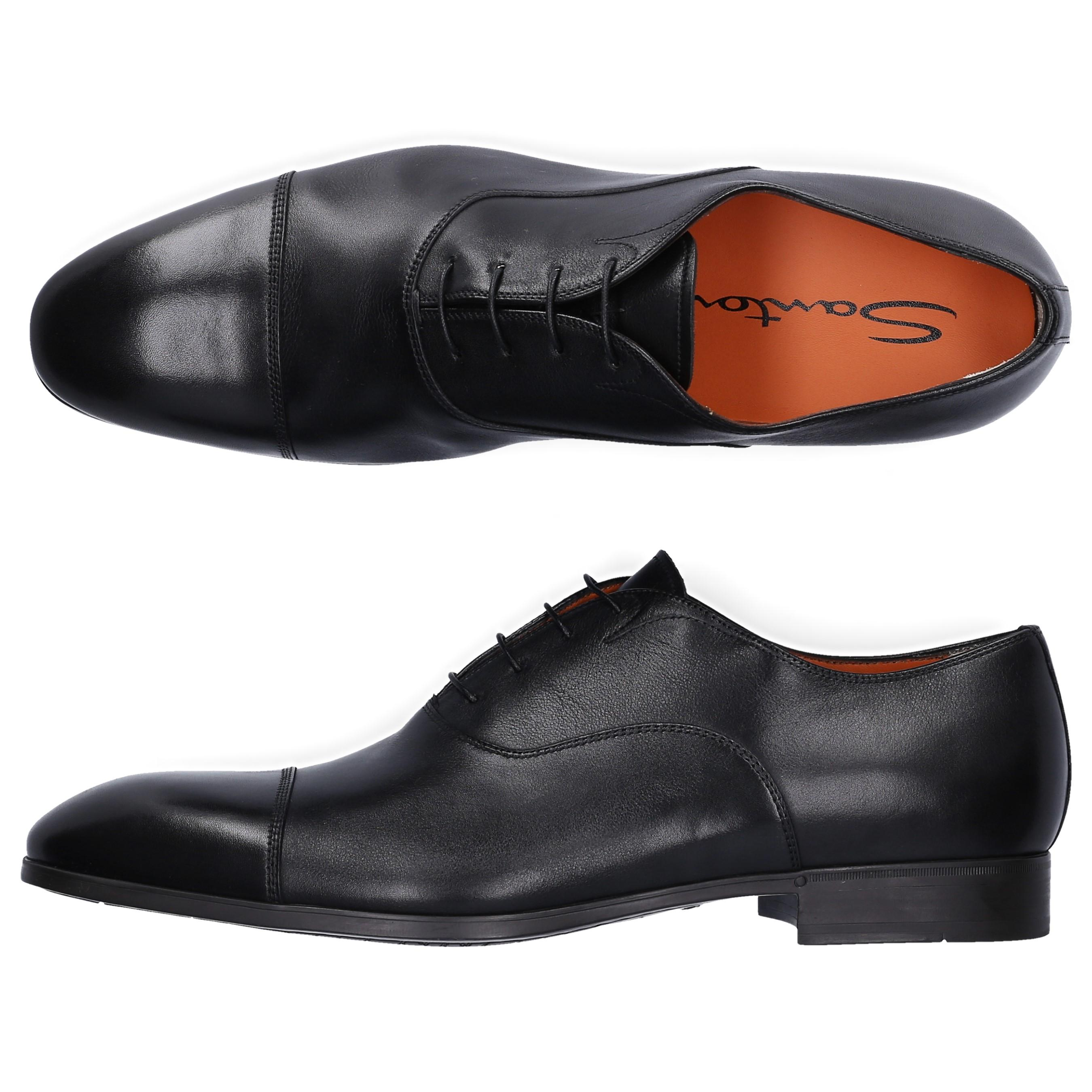 0f6b97bae27326 Santoni - Derby 11011 Leather Black for Men - Lyst. View fullscreen