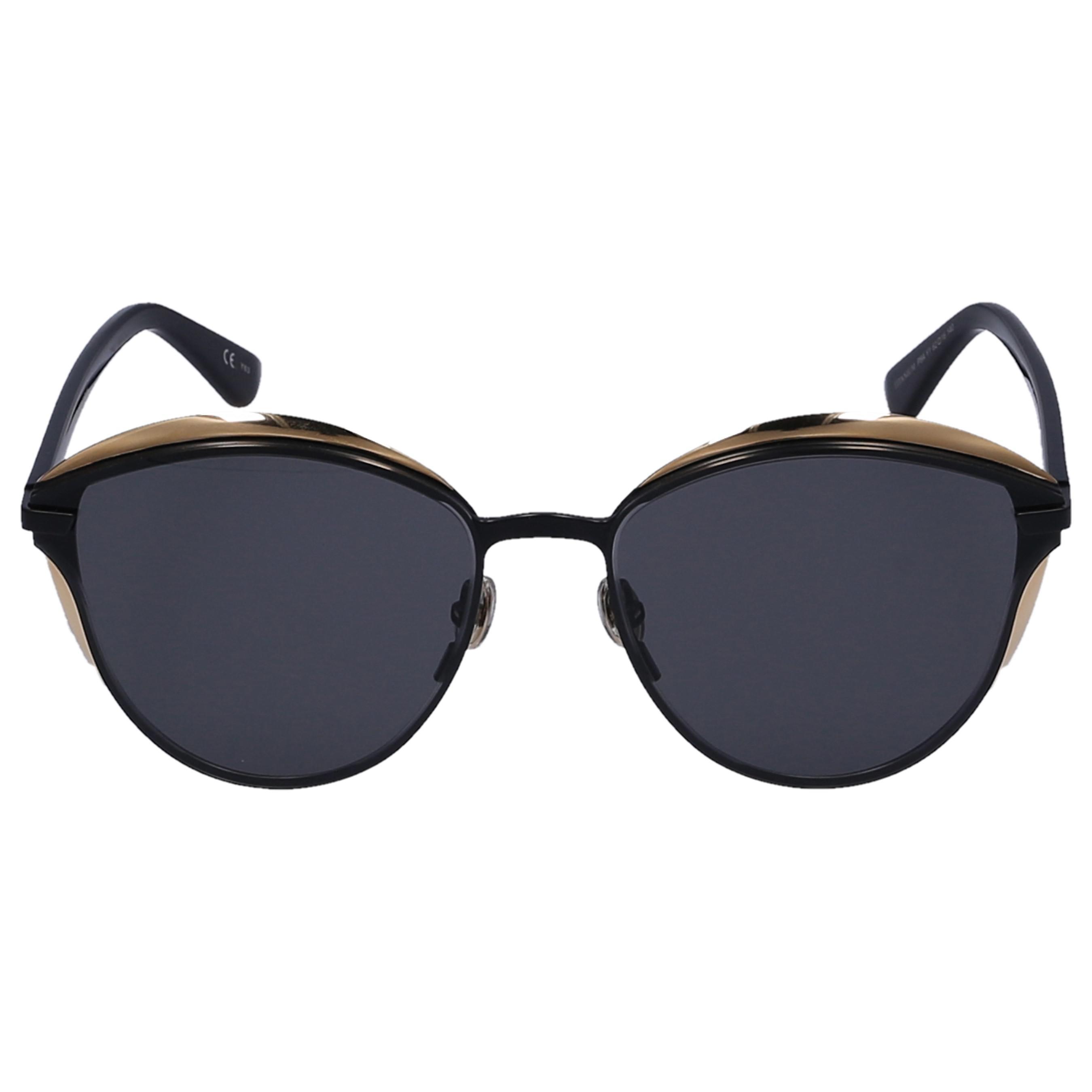 594462bb58 Dior Sunglasses Cat Eye Murmur Acetate Black in Blue - Lyst