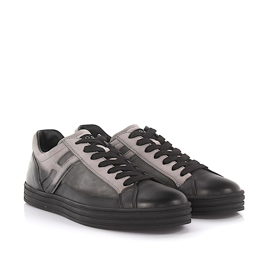 Hogan Rebel Sneakers R141 leather and suede