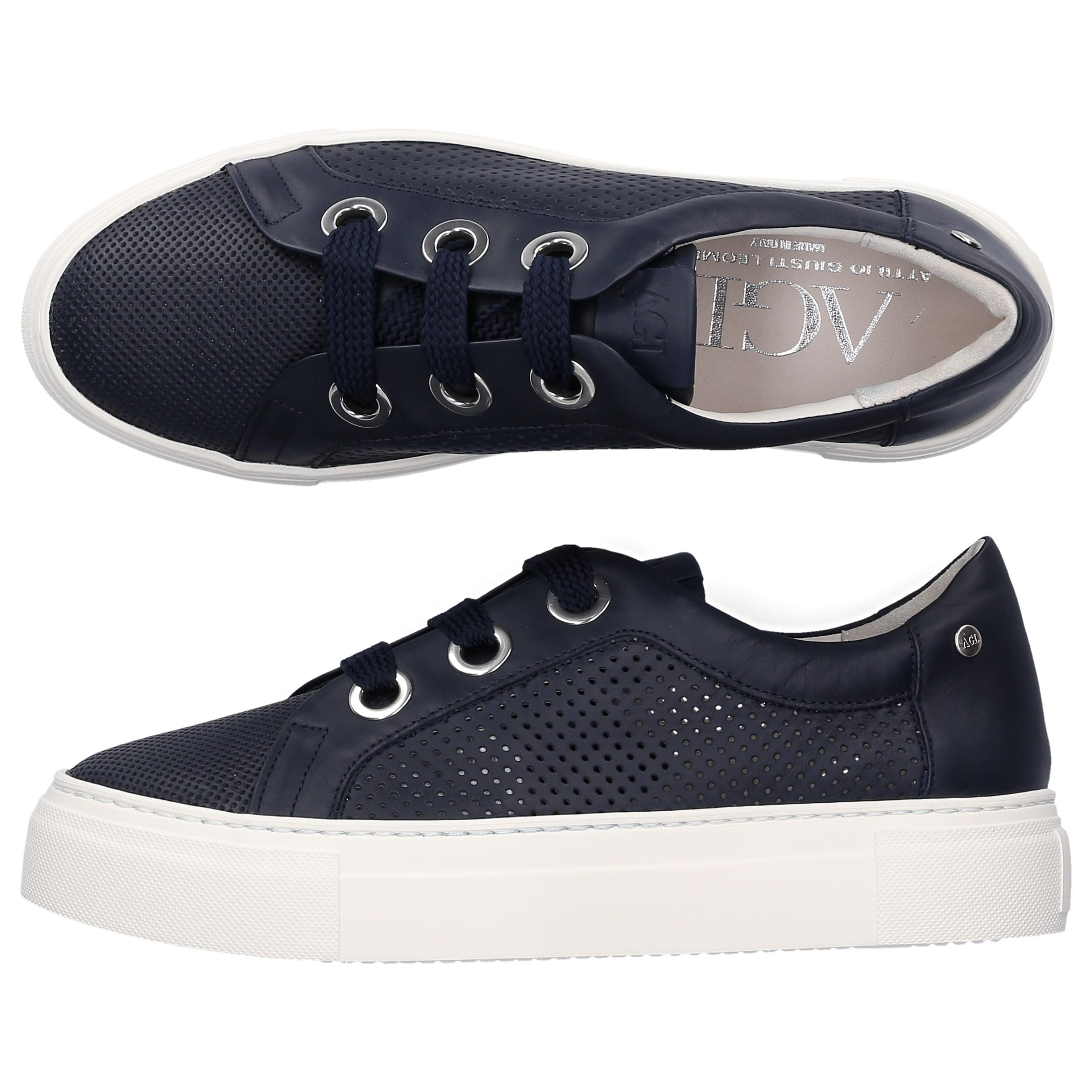 51a65ca20 Agl Attilio Giusti Leombruni - Low-top Sneakers 925173 Calfskin Hole  Pattern Logo Blue -. View fullscreen