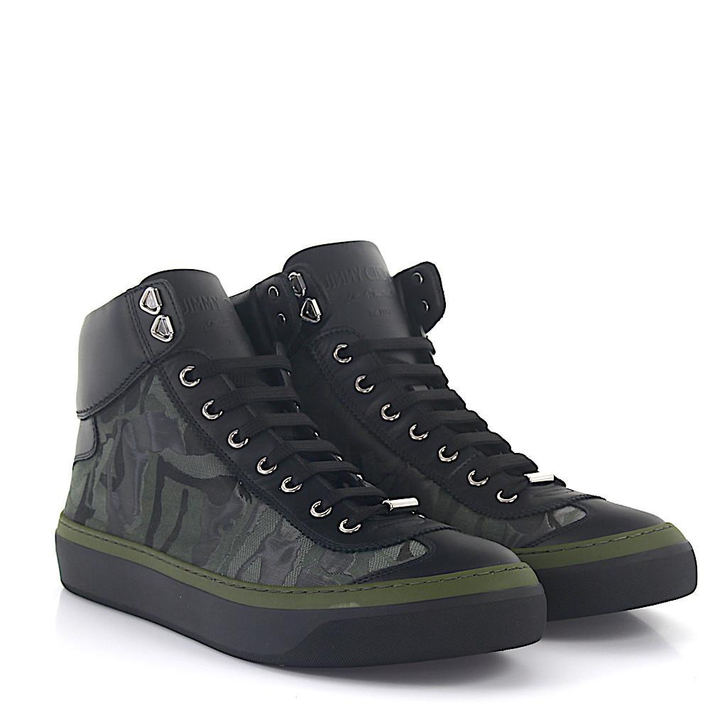 Jimmy chooSneaker Argyle high top leather black camouflage PkSIIFXy