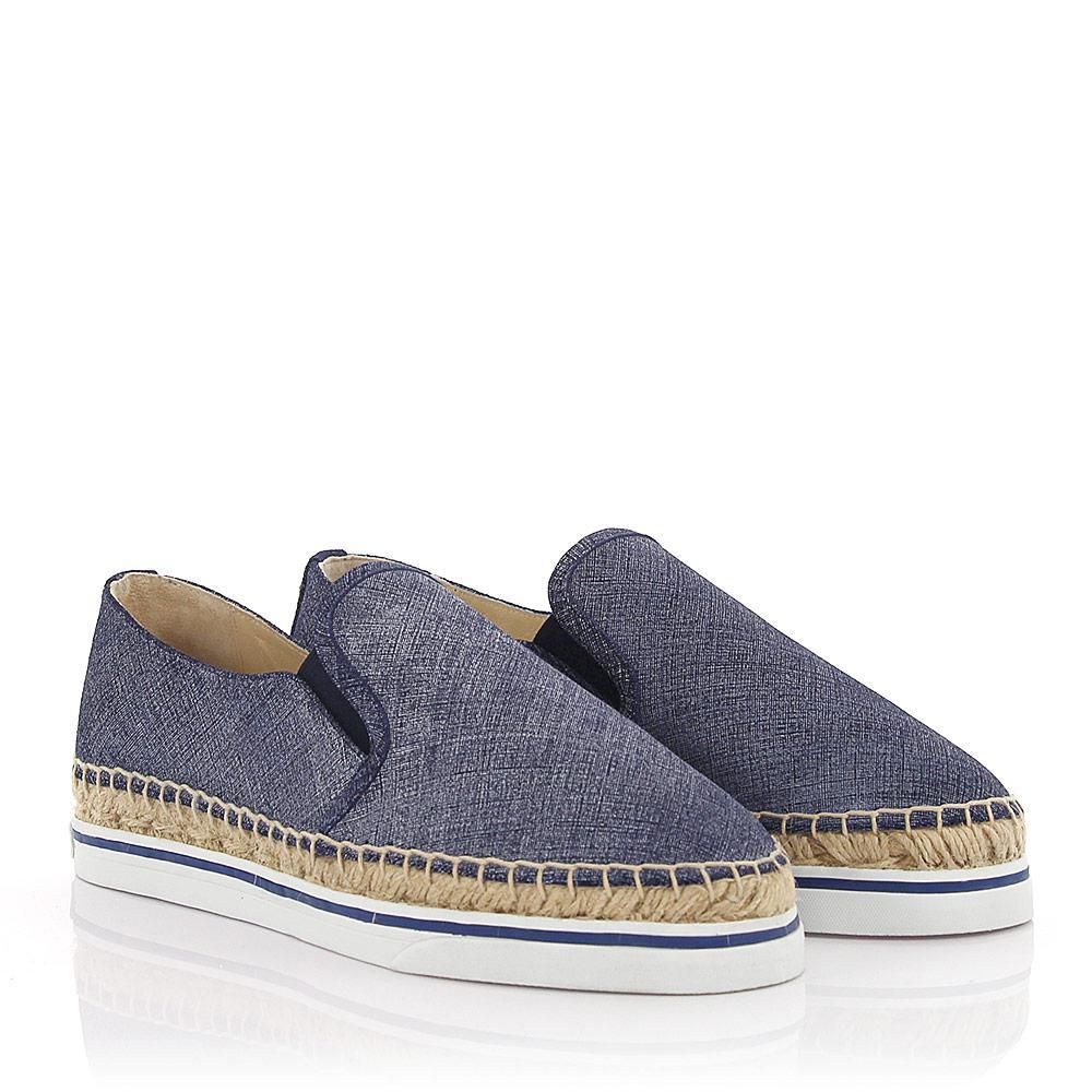 Jimmy choo Espadrilles Slip-On Sneakers Dawn denim leather HQ6zE