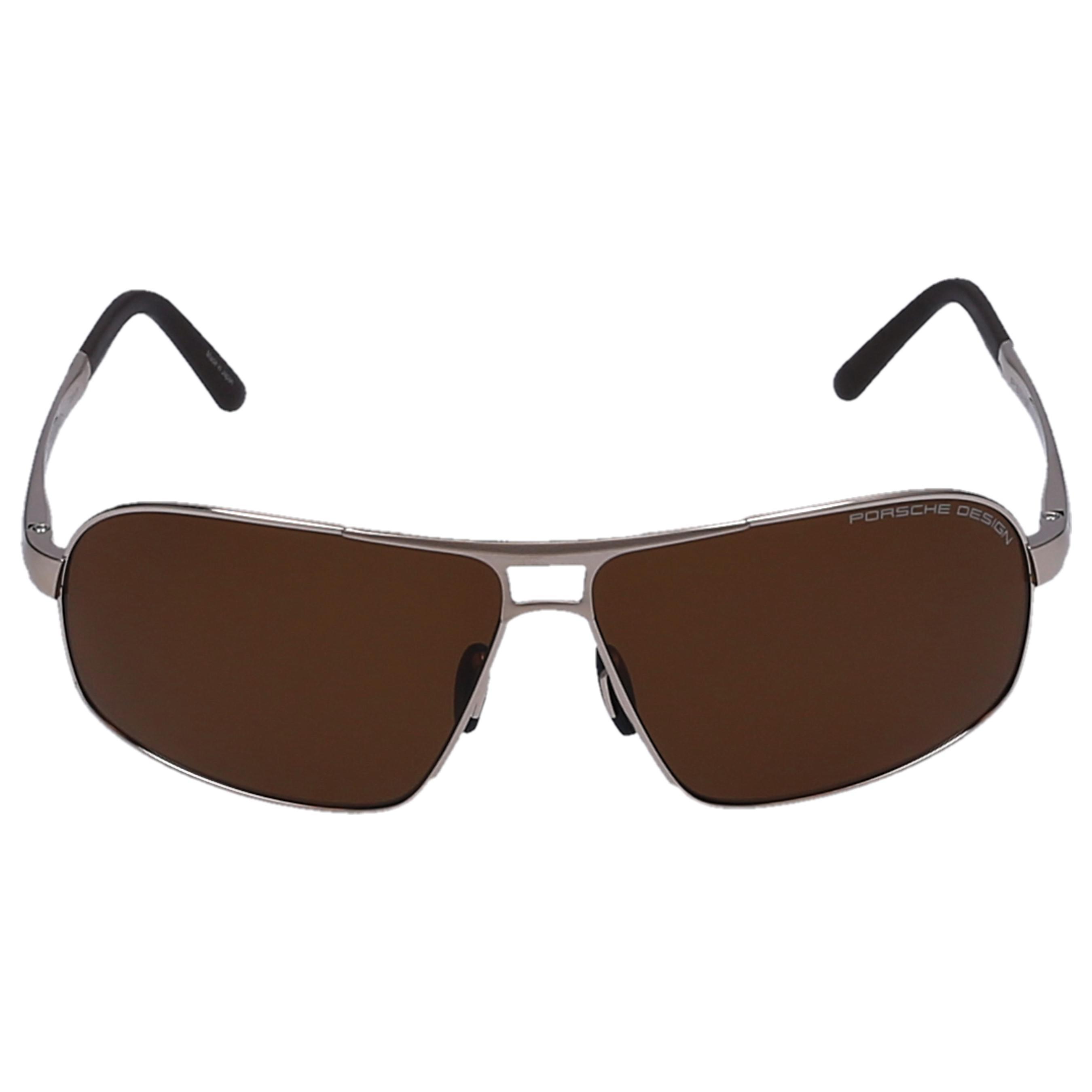 b869fd4146b Lyst - Porsche Design Men Sunglasses Aviator 8542 Titan Acetate Gold ...