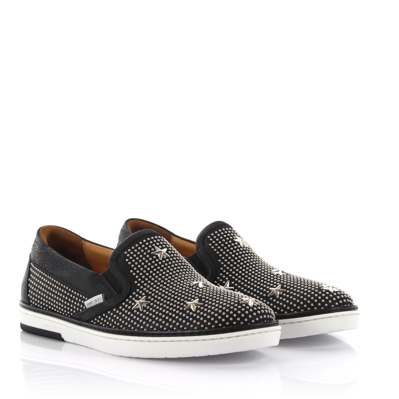 Jimmy choo Men's Grove Star Embellished Slip-On Sneaker