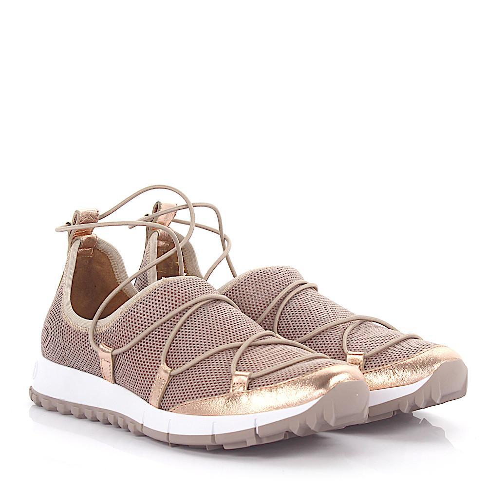 Jimmy choo Sneakers Slip-On ANDREA sequins mesh rosè leather metallic zM6u2mMh