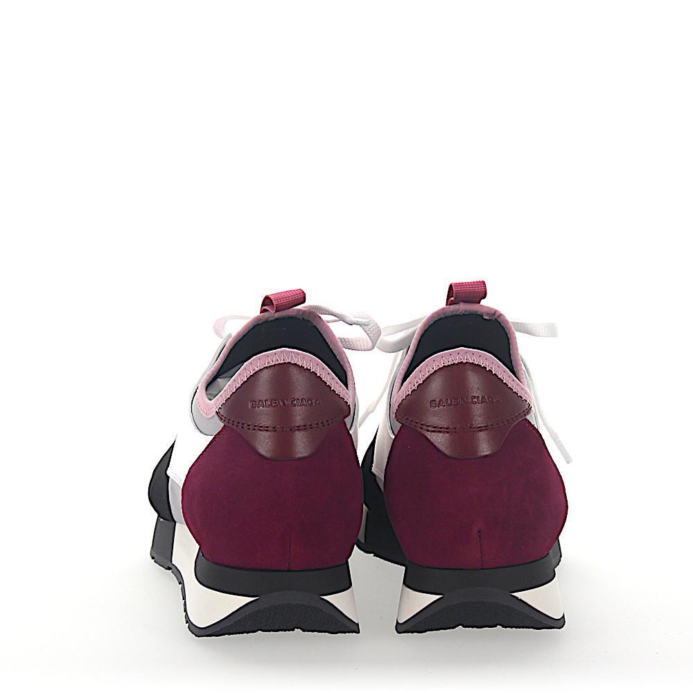 Sneakers Bordeaux Daim Lyst Blanc Runner Balenciaga Race Cuir 5PqwqS0X