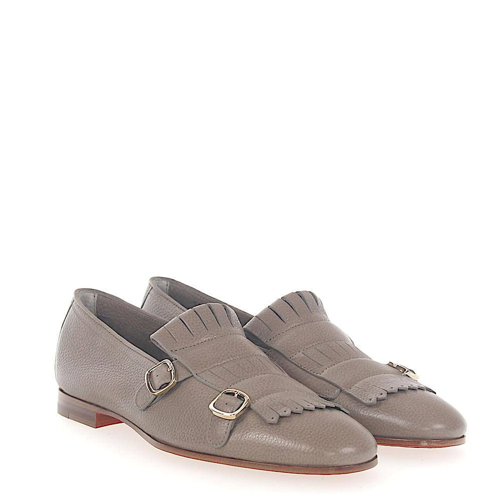 bd85768ce79 Lyst - Santoni Double-monk 54646 Leather Taupe Frays in Gray