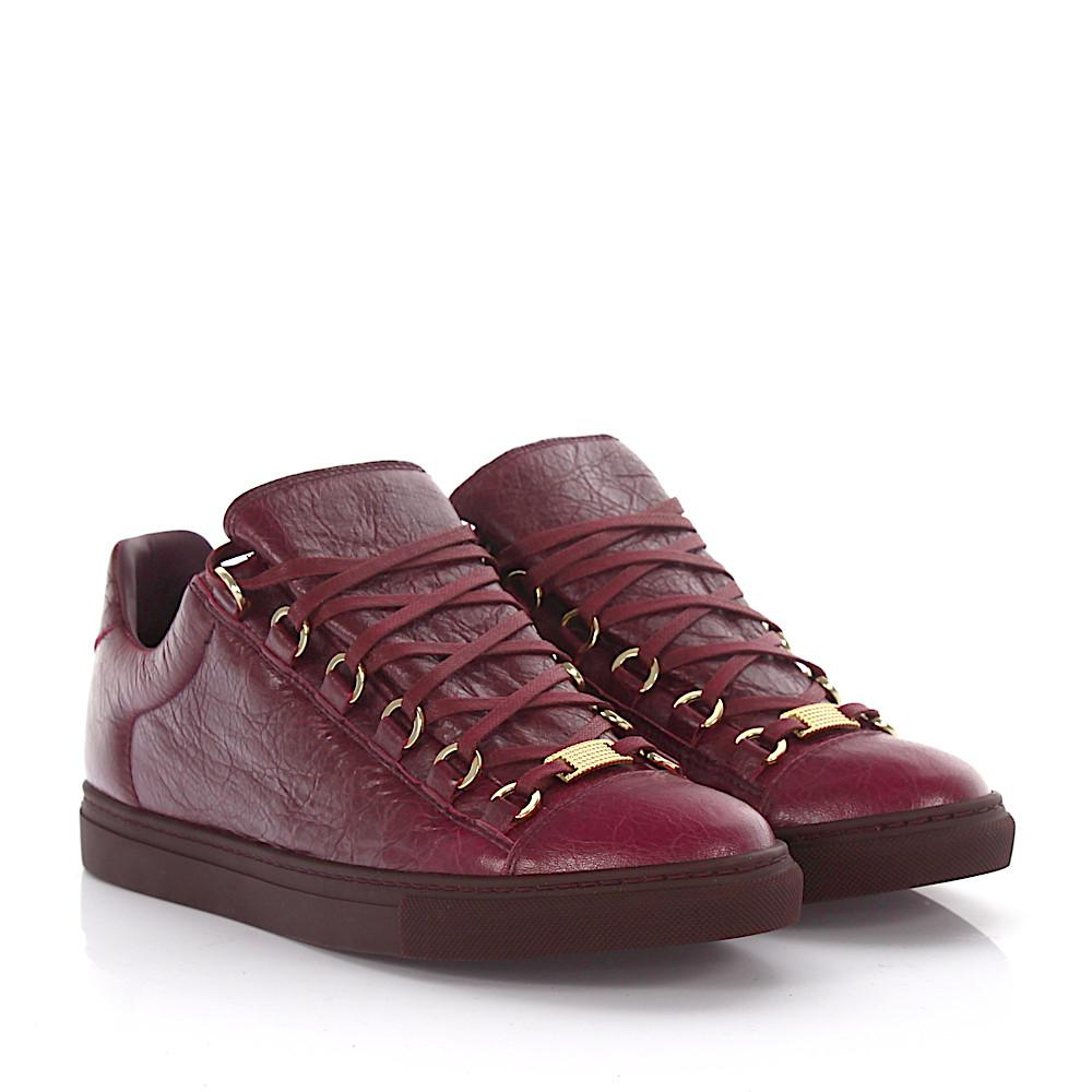 Balenciaga Sneakers Arena leather claret Free Shipping Order Free Shipping Pick A Best Newest 4jdY6924r