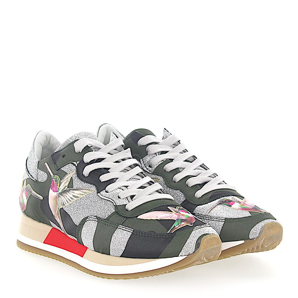 Philippe model Sneakers PARADIS leather camouflage glitter humming-bird jVUnFG