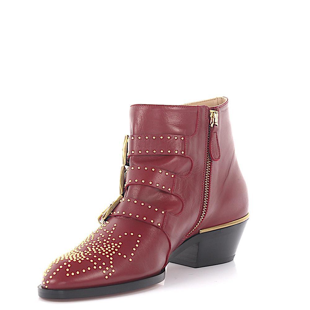 Chloé Sandals Floral nappa leather Rivets