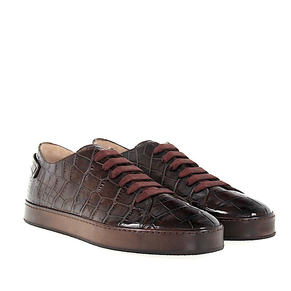 online store 5653d 5b385 santoni-brown-Low-top-Sneakers-20756-Crocodile-Leather-Brown.jpeg