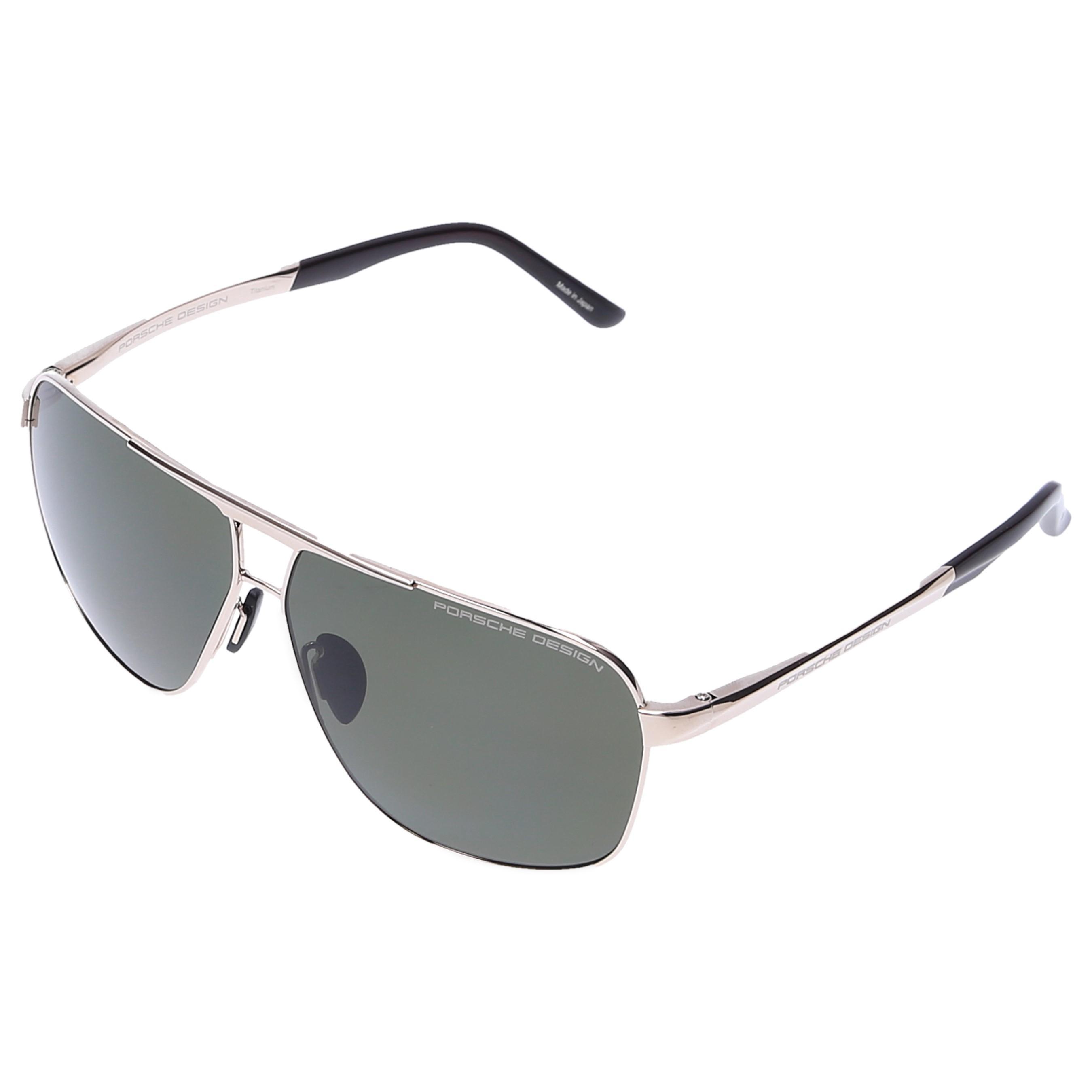 b118232ebdc Porsche Design - Metallic Men Sunglasses Aviator 8665 Titanium Gold Black  for Men - Lyst. View fullscreen
