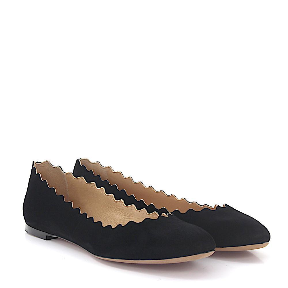 Chloé Ballerinas LAUREN suede nappa leather