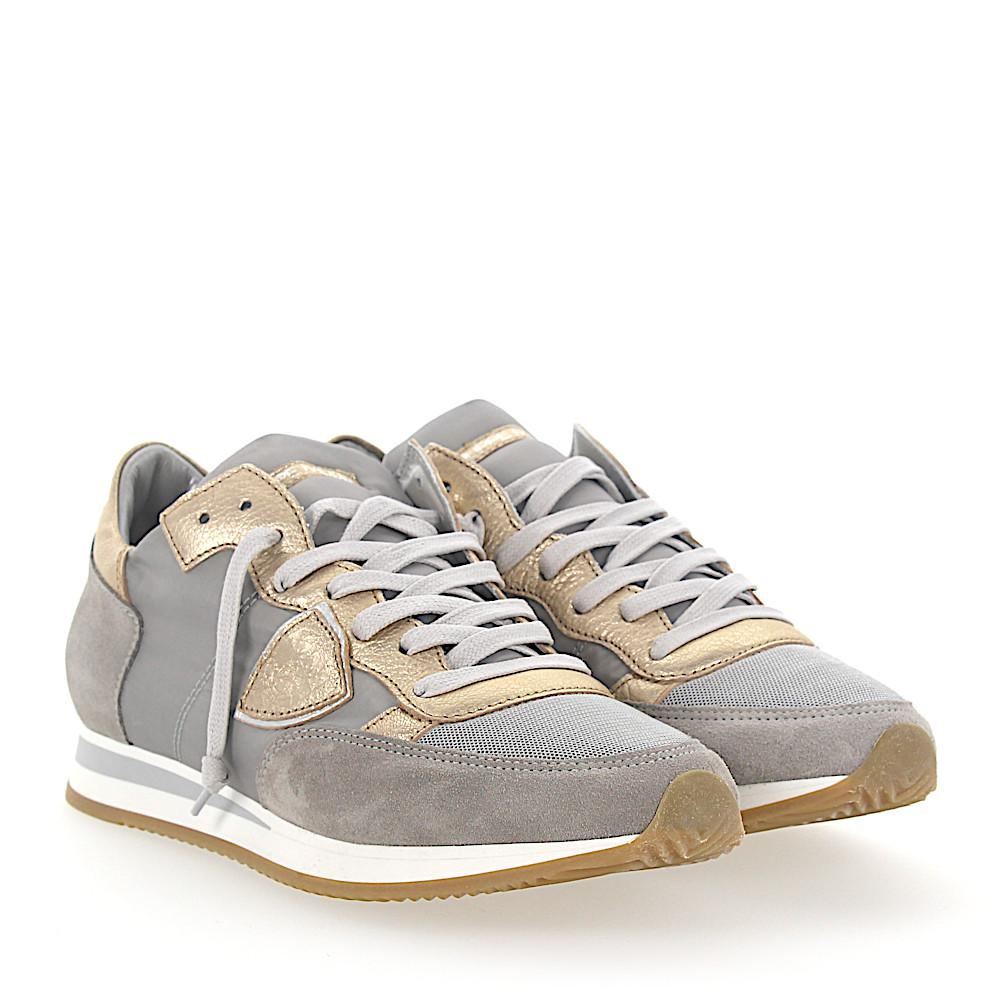 Philippe model Sneakers TROPEZ leather metallic suede nylon x7w7V