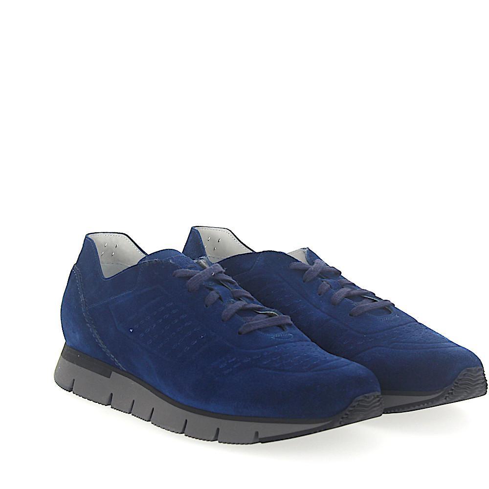 Sneaker 20754 suede Hole pattern blue Santoni AG1QaQT