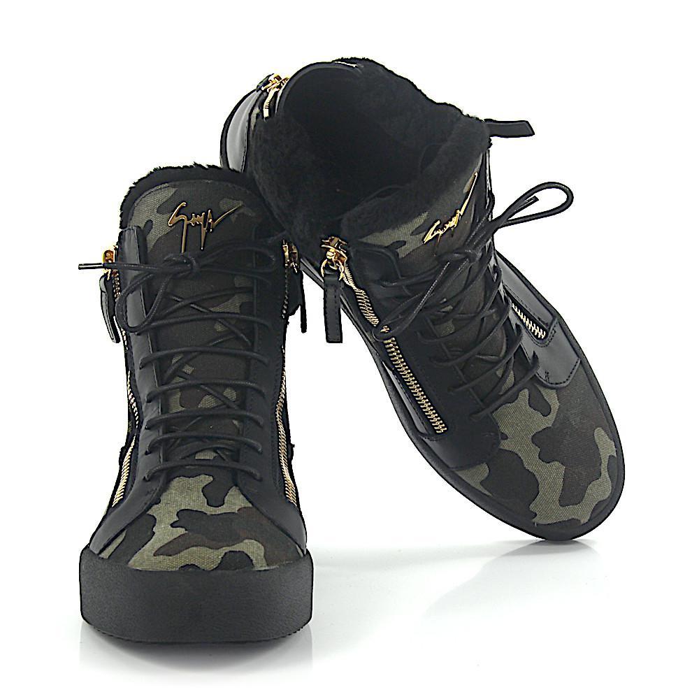 official photos 3ecad dc4b0 giuseppe-zanotti-black-Sneakers-May-High-Leather-Black-Fabric-Camouflage -Lamb-Fur.jpeg