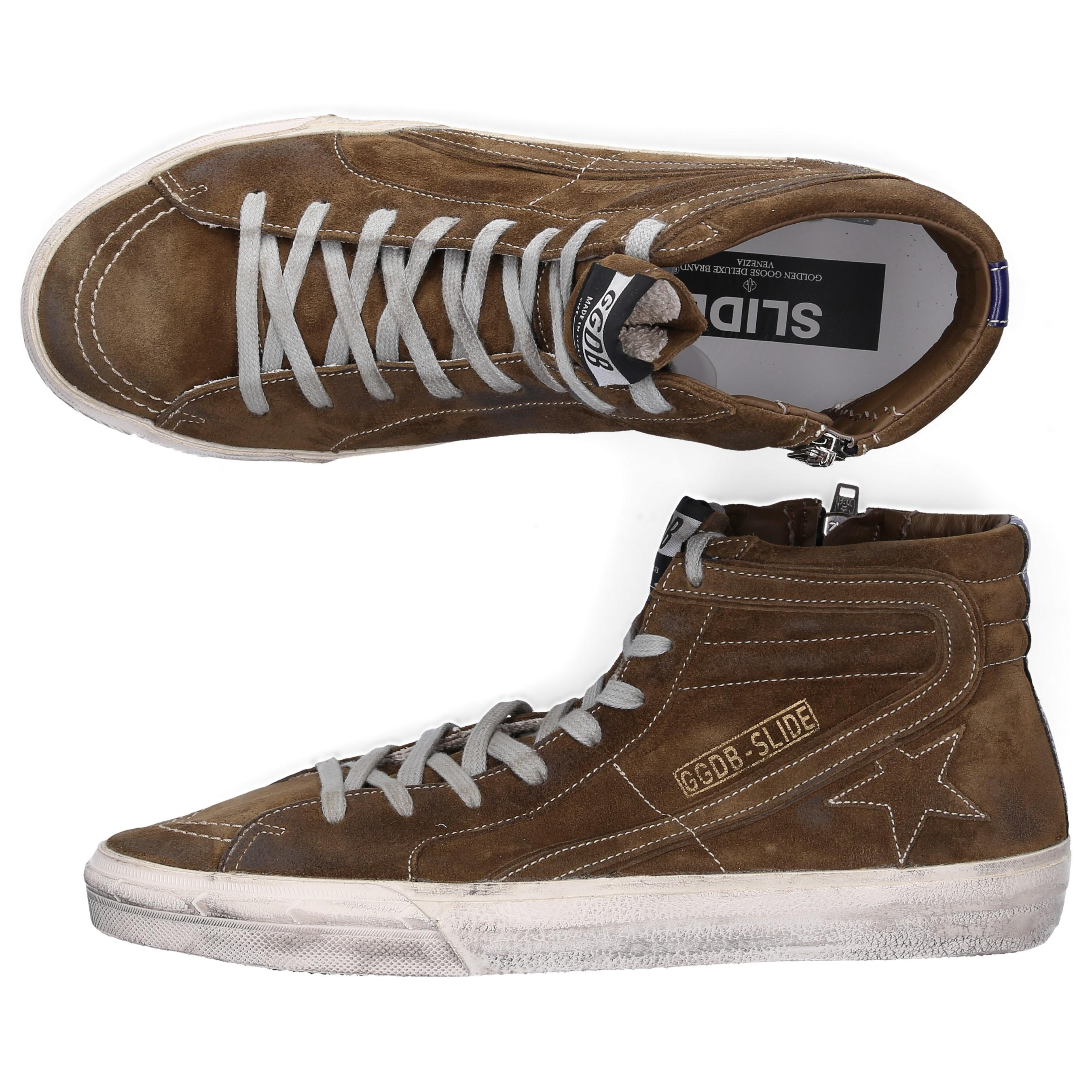cace4c8b5466 Golden Goose Deluxe Brand - High-top Sneakers Slide Suede Used Brown for Men  -. View fullscreen