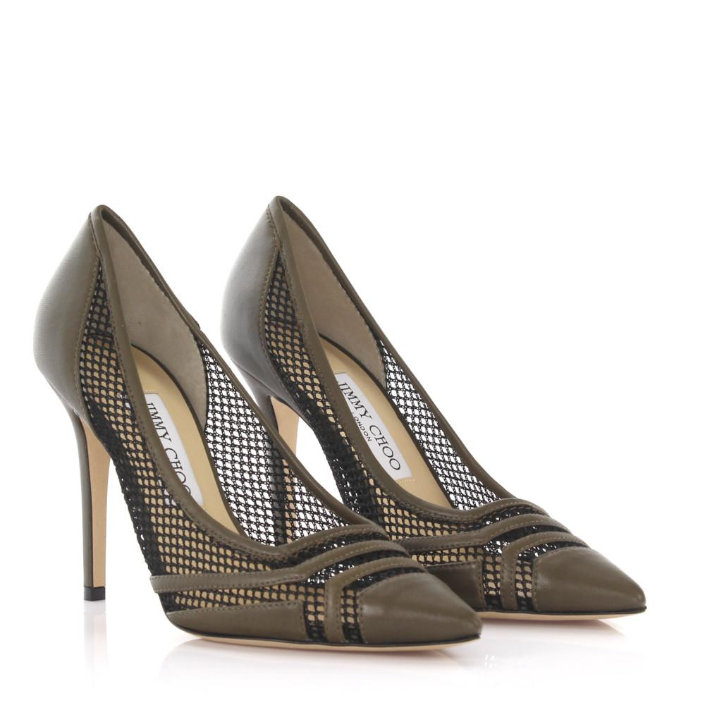 Jimmy choo Pumps Hettie nappa leather mesh zgwgLiNn