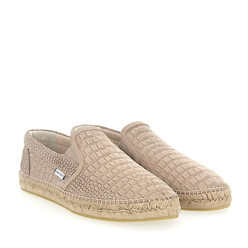 Jimmy choo Espadrilles VLAD nubuck leather crocodile embossment wV3PCom8dj