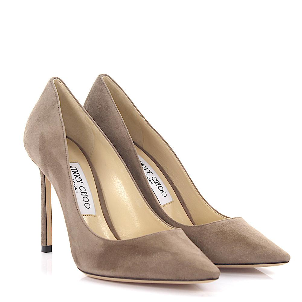 Jimmy choo Pumps Romy 100 suede mocca