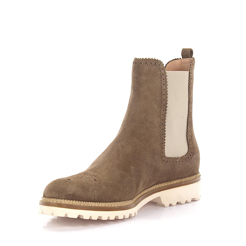 UNüTZER Boots 7854 suede taupe lyra perforation TTSNy