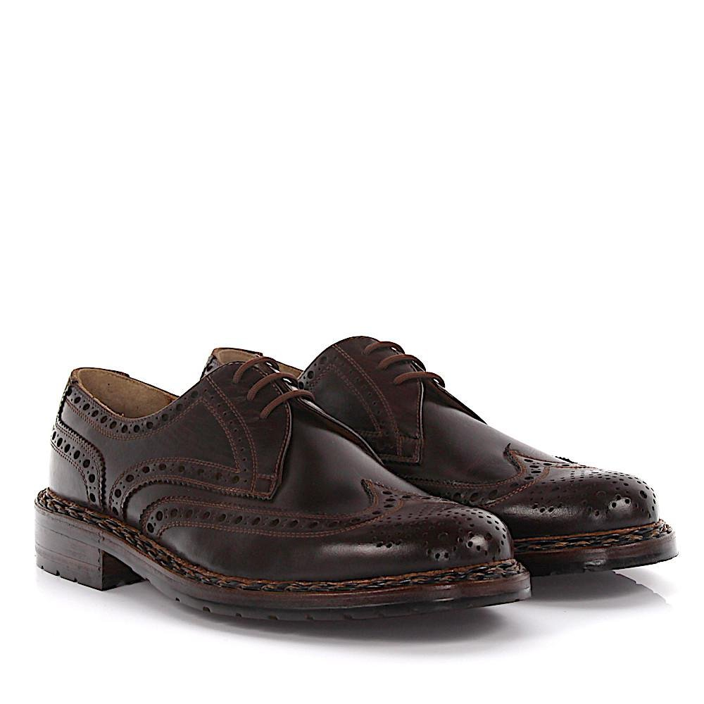 Heinrich Dinkelacker Loafers Brogue Hillbilly mocca straight cap perforated HyxwW99