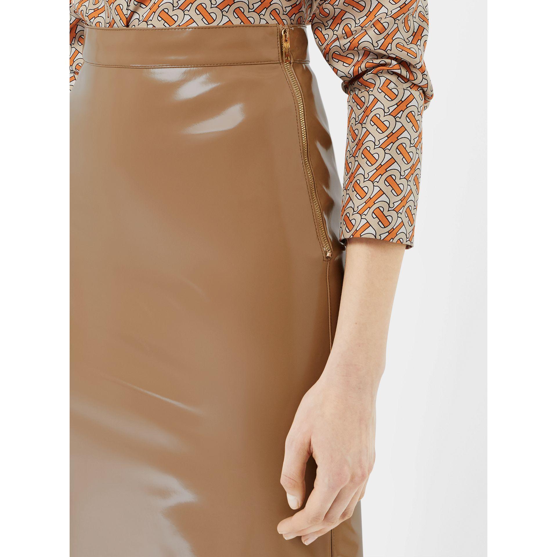 67e07b485 Burberry - Natural Vinyl Pencil Skirt - Lyst. View fullscreen