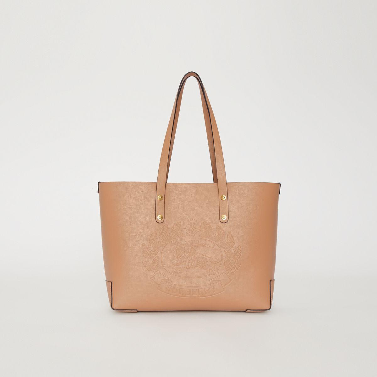 cbef290bce47 Burberry - Natural Small Embossed Crest Leather Tote - Lyst. View fullscreen