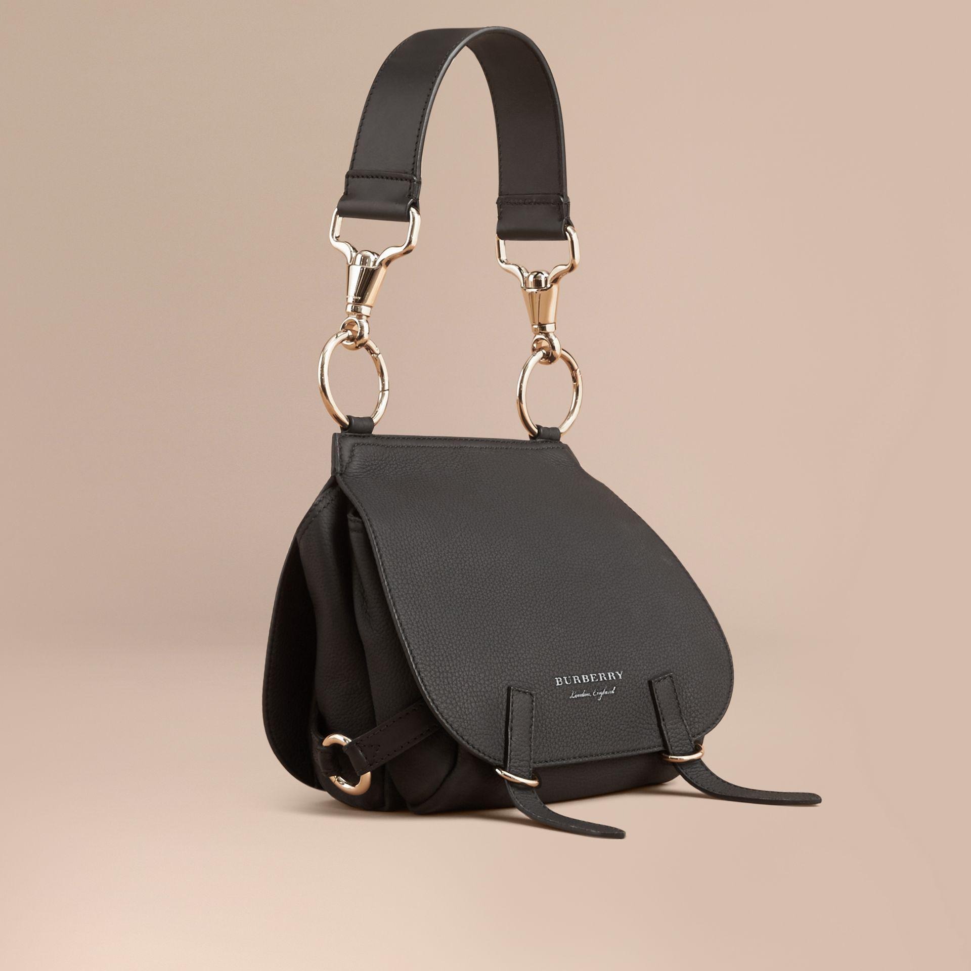 4bd35befb6cd Burberry The Bridle Bag In Deerskin Black in Black - Lyst