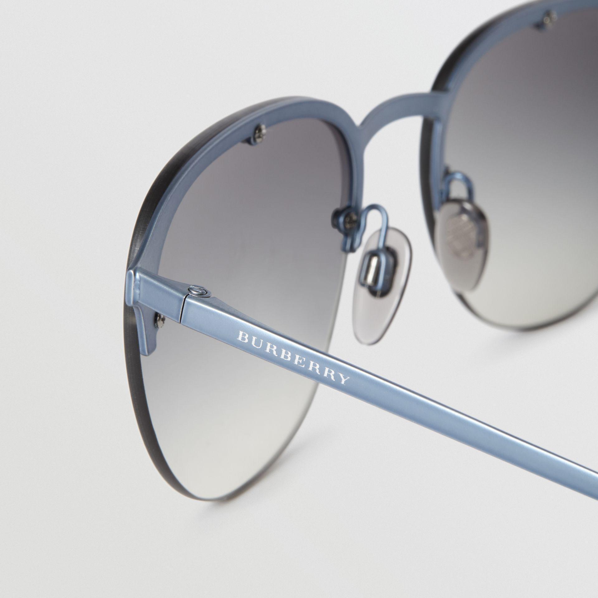 2acf5e3038d Burberry - Gray Round Frame Sunglasses for Men - Lyst. View fullscreen