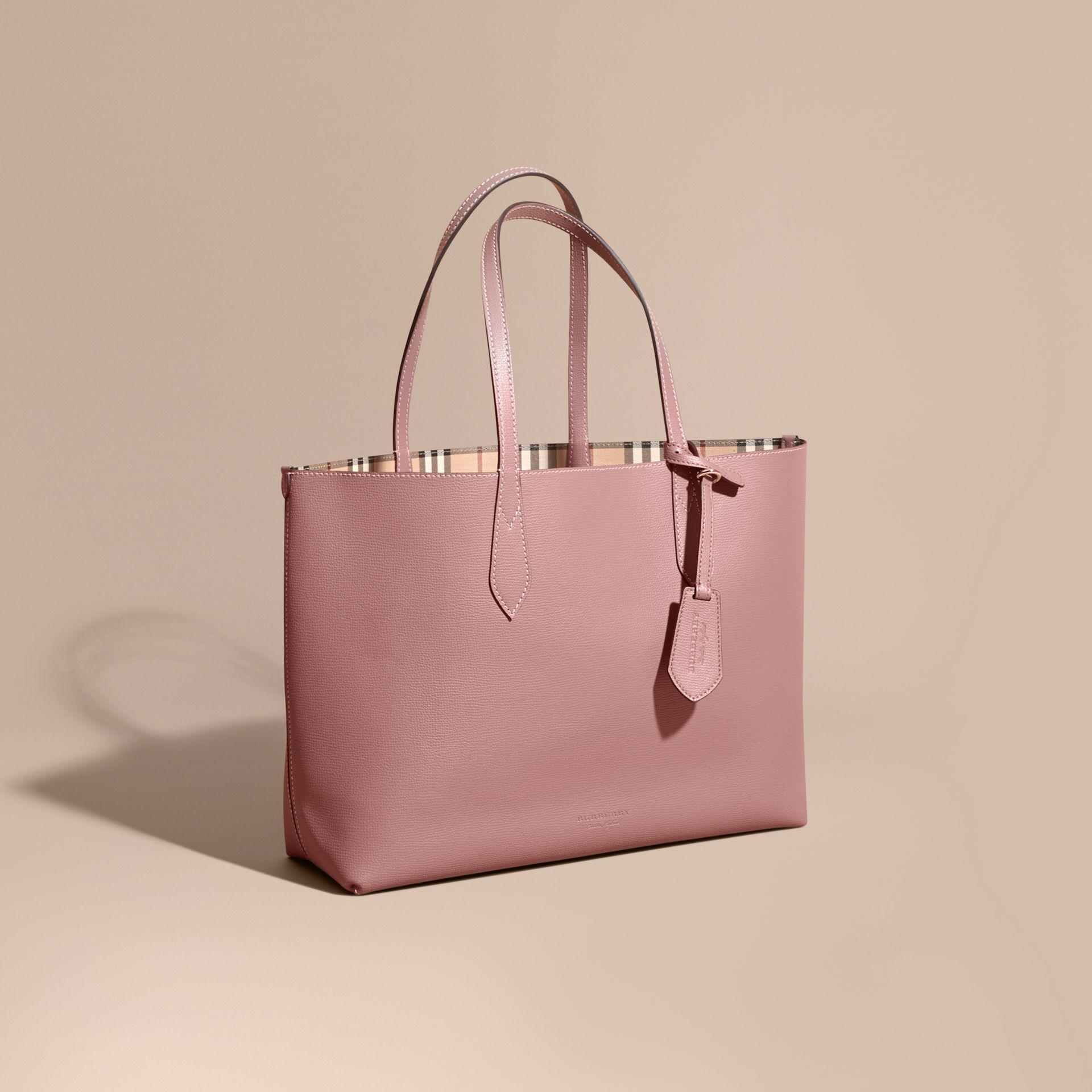 d367e0798f91 ... Item No 4033954. Burberry Small Canter Horseferry Check Tote Ash Rose  Dusty Pink. Pink Burberry Purses Best Purse Image Ccdbb