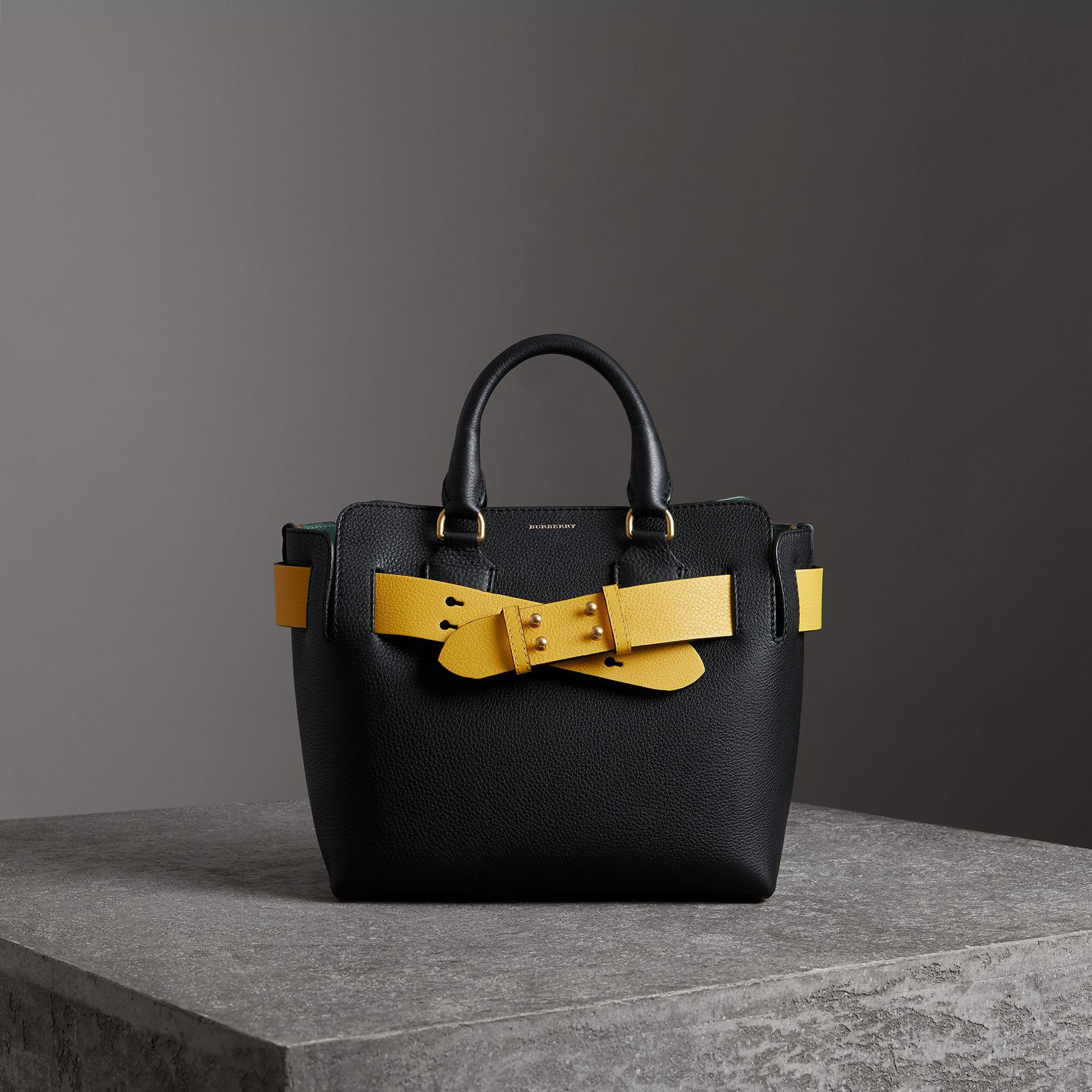 2119651b0f9c Burberry The Small Leather Belt Bag in Black - Lyst