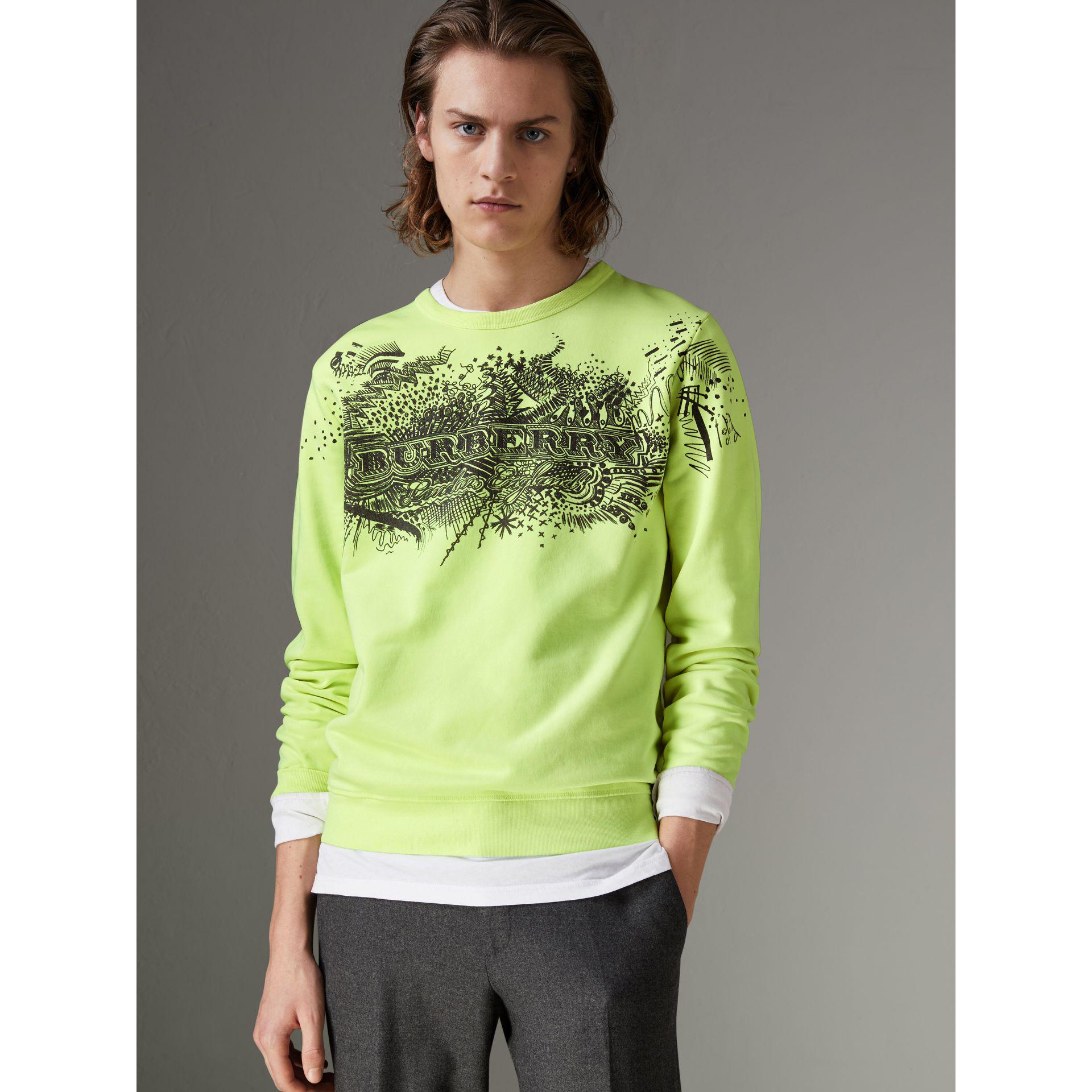 Discount Authentic Online doodle print cotton sweatshirt - Green Burberry Footlocker Pictures Online NXKayDMaE