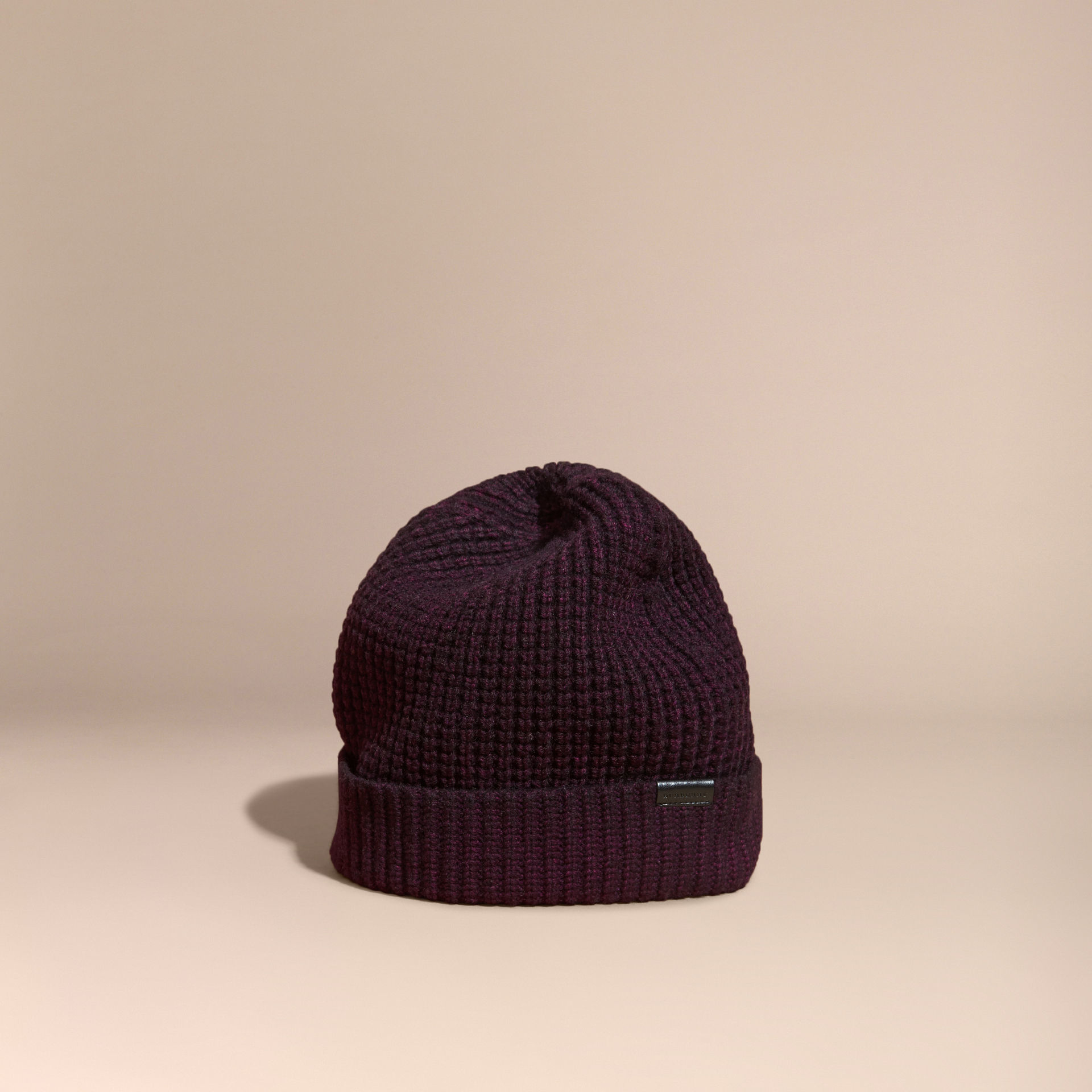 af4d956835b Lyst - Burberry Waffle Knit Wool Cashmere Beanie for Men