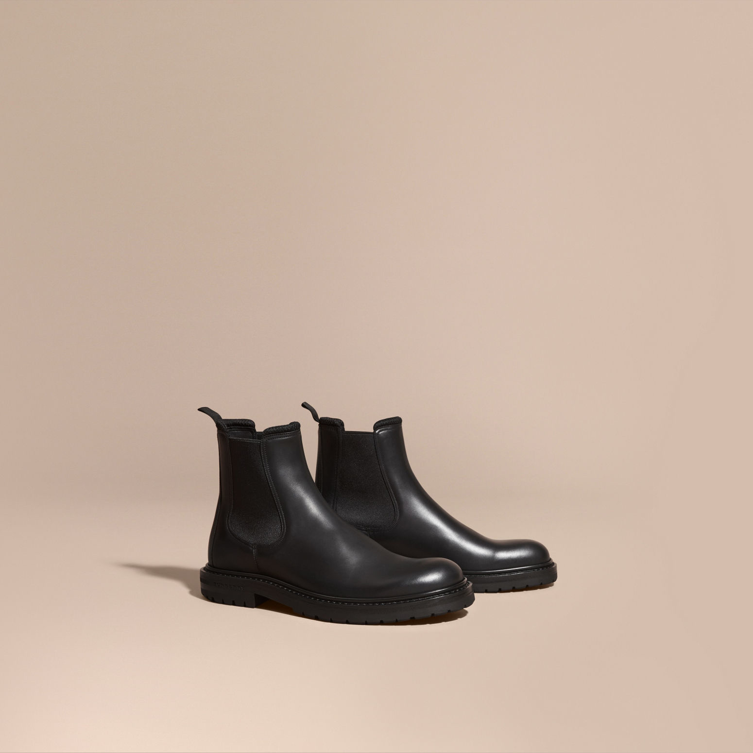 burberry leather chelsea boots in multicolor for