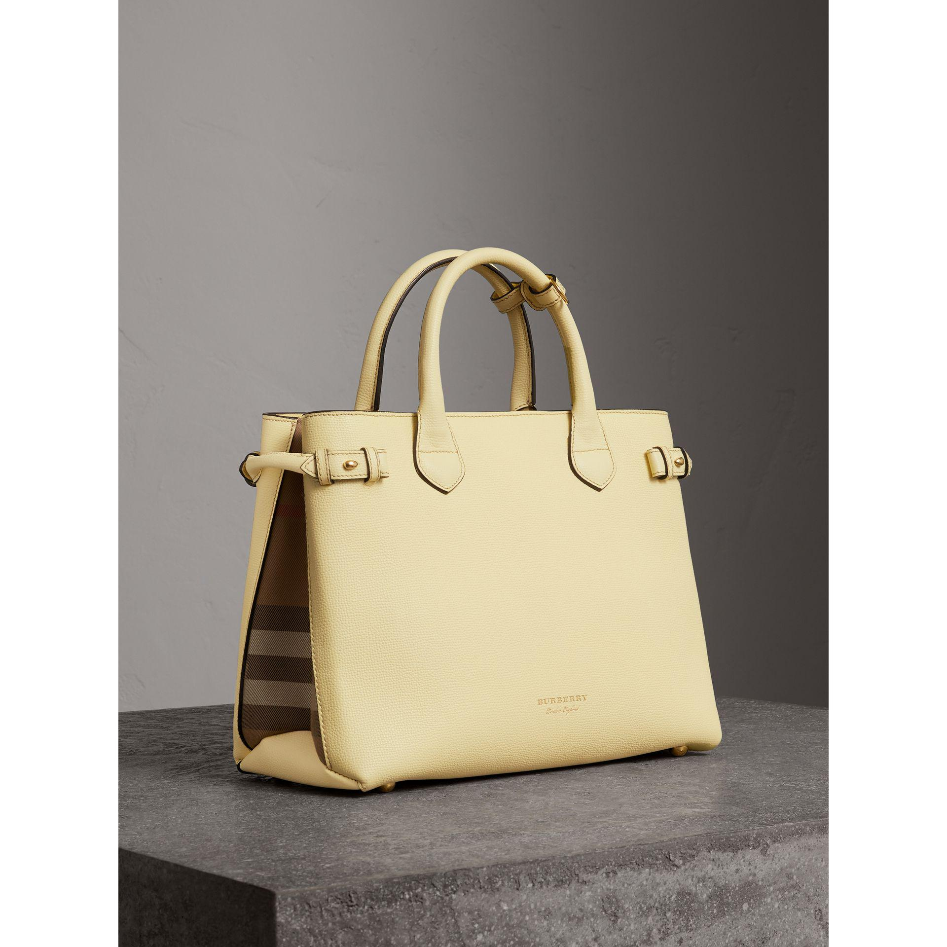 7f8f0e097c70 Lyst - Burberry The Medium Banner In Leather And House Check ...