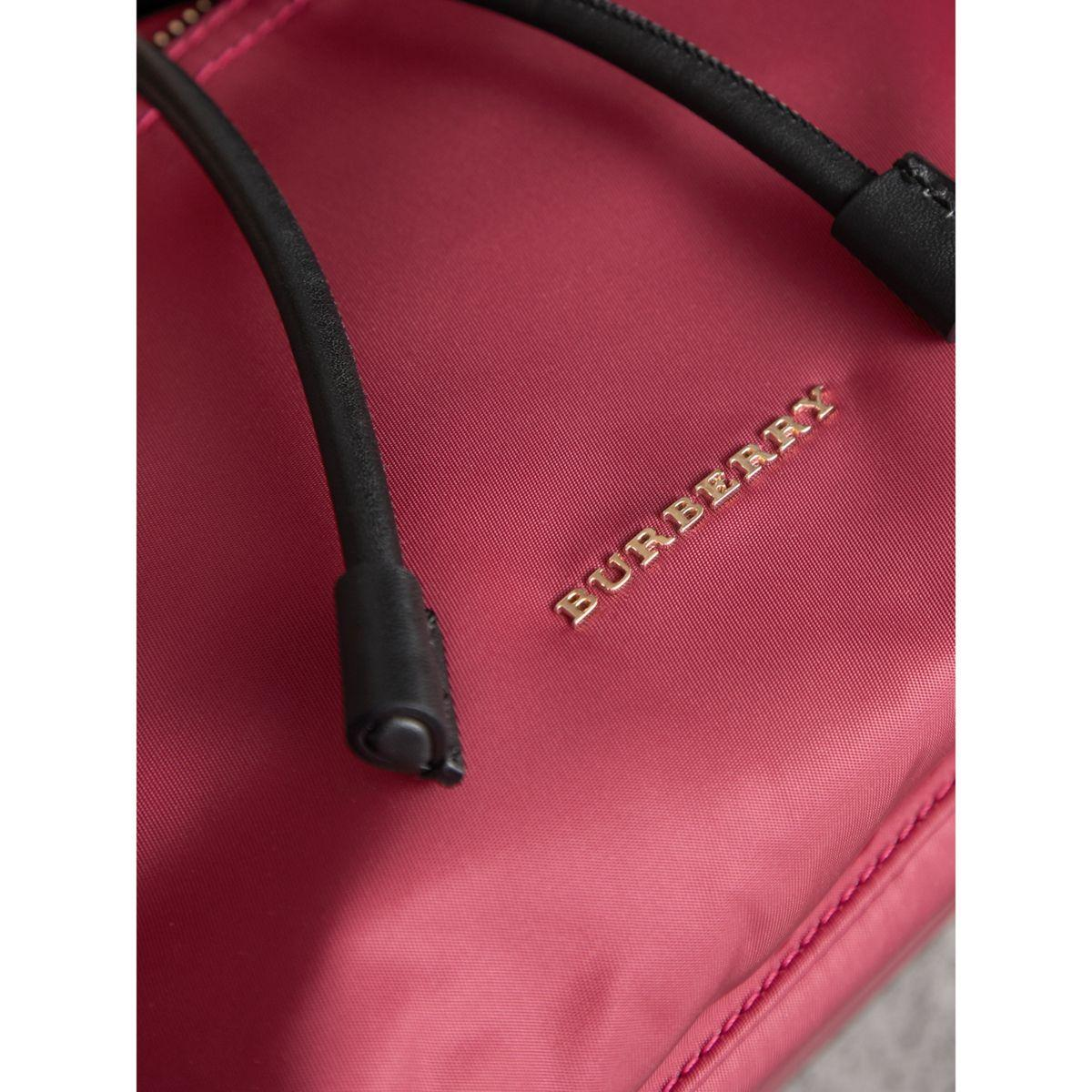 790243cb326b Lyst - Burberry The Medium Rucksack In Technical Nylon And Leather ...
