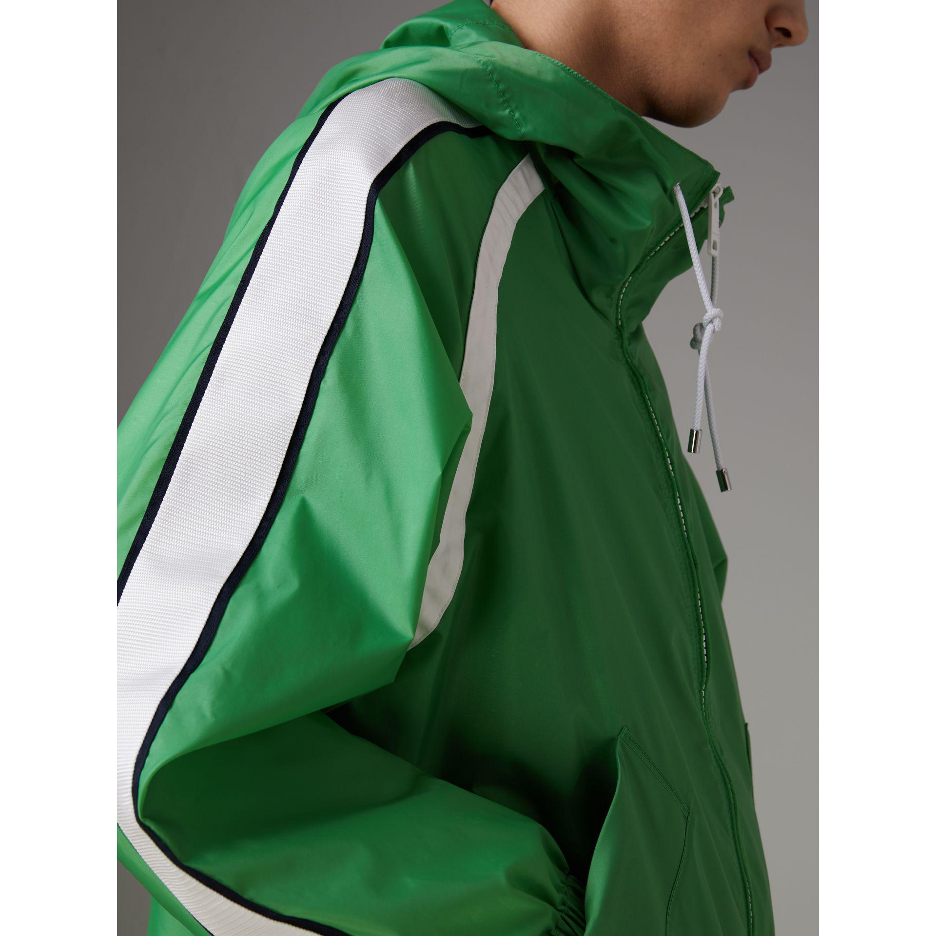 8bac620979c8 Burberry Stripe Detail Showerproof Hooded Jacket in Green for Men ...