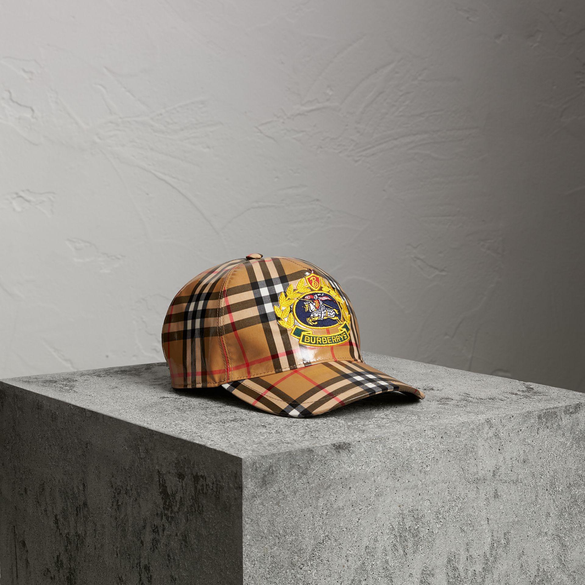 90ea31c01c9 Lyst - Burberry Archive Logo Coated Vintage Check Baseball Cap for Men