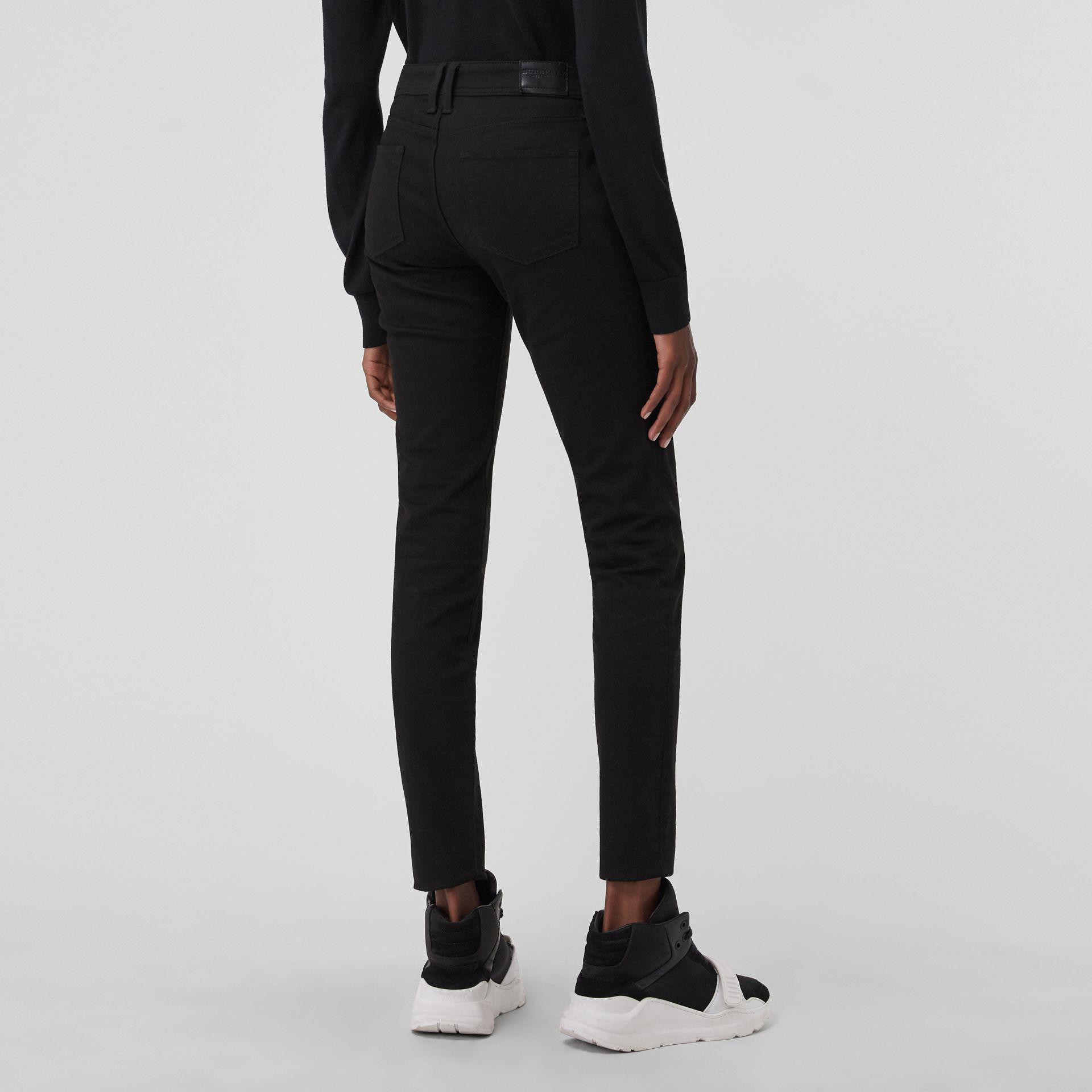 e3c0cb371f618 Burberry - Skinny Fit Low-rise Deep Black Jeans - Lyst. View fullscreen