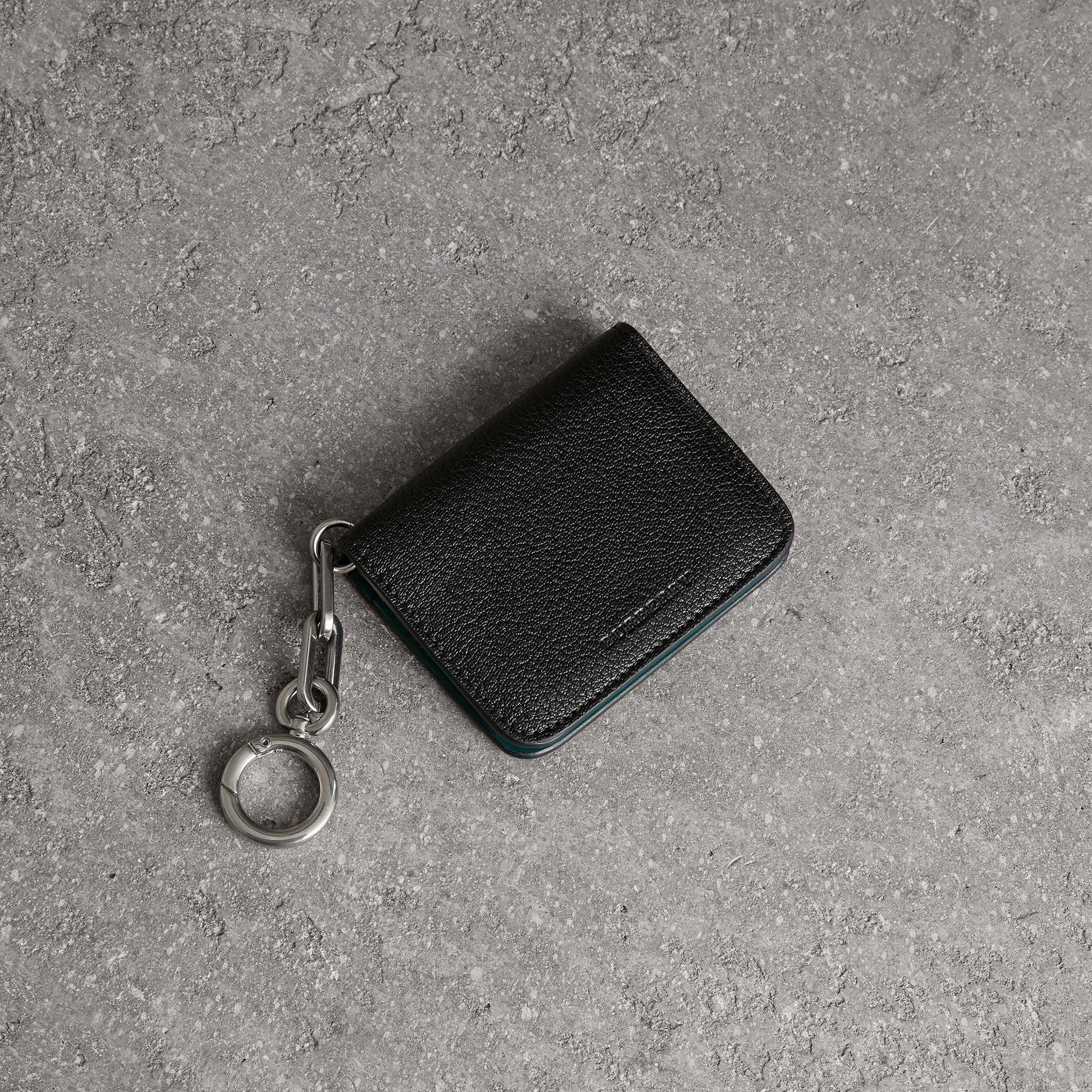 Link Detail Leather ID Card Case Charm - Black Burberry YFlG2UHl
