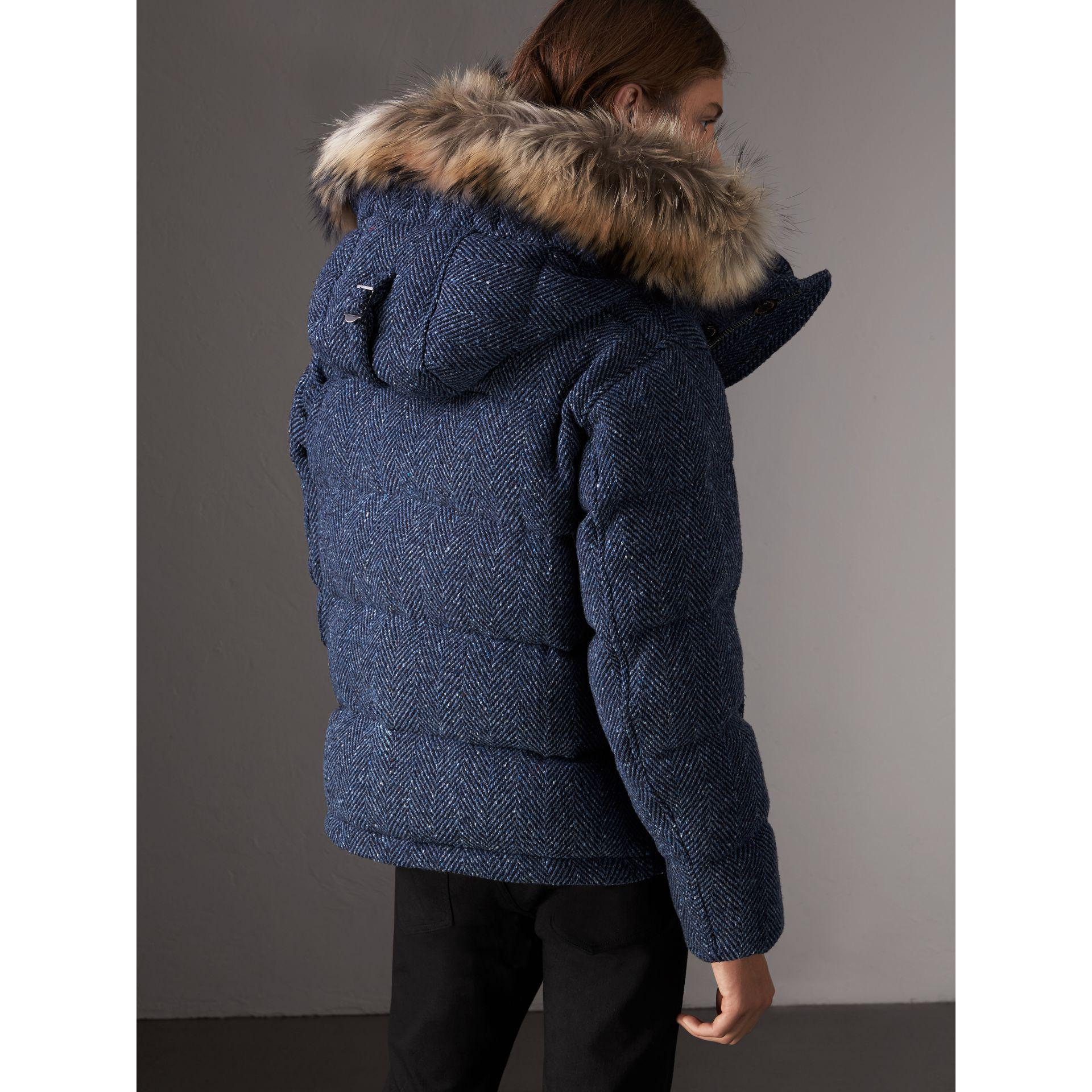 d9f59240ccd3 Lyst - Burberry Detachable Fur Trim Down-filled Cashmere Parka in ...
