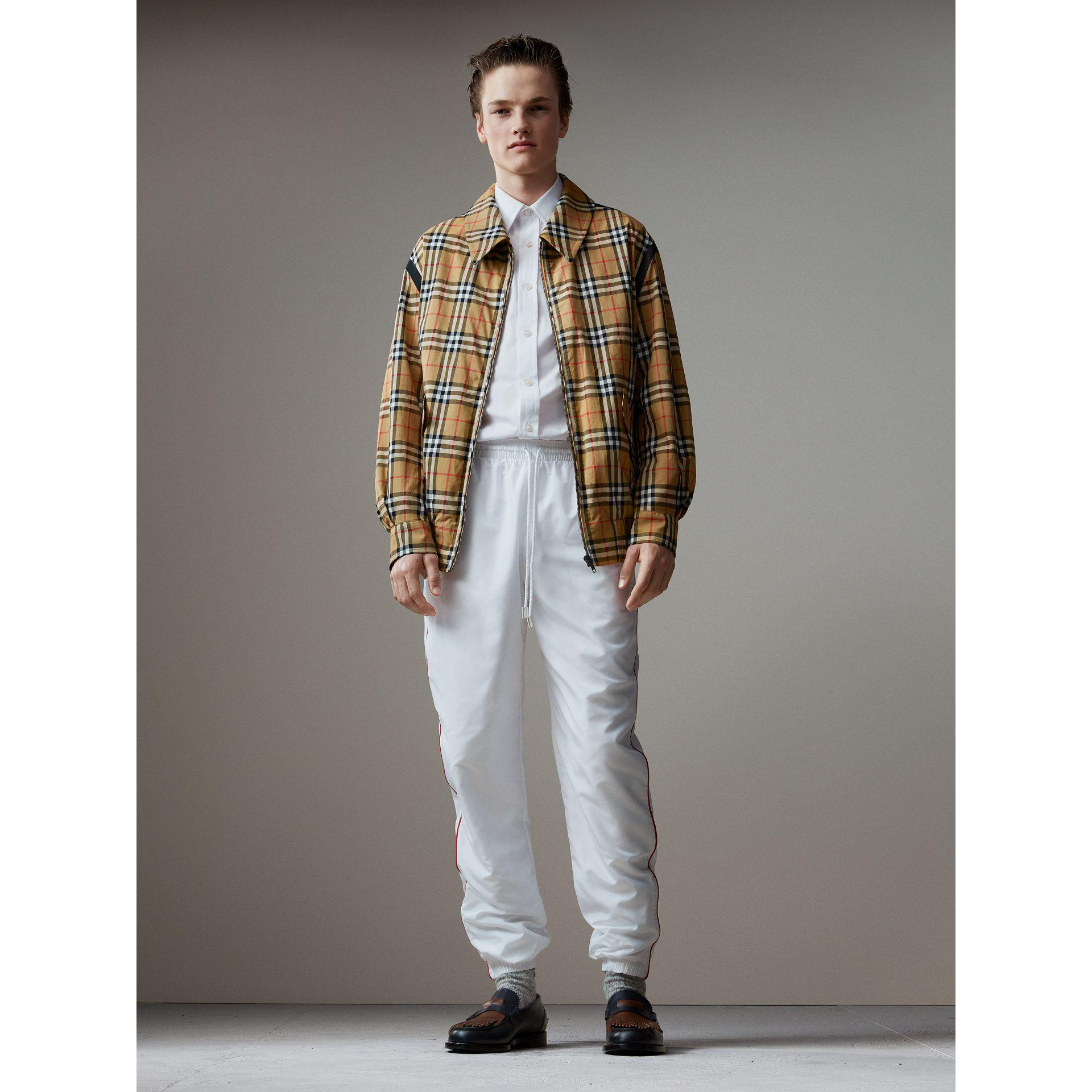 Lyst Burberry Vintage Check Gabardine Harrington Jacket