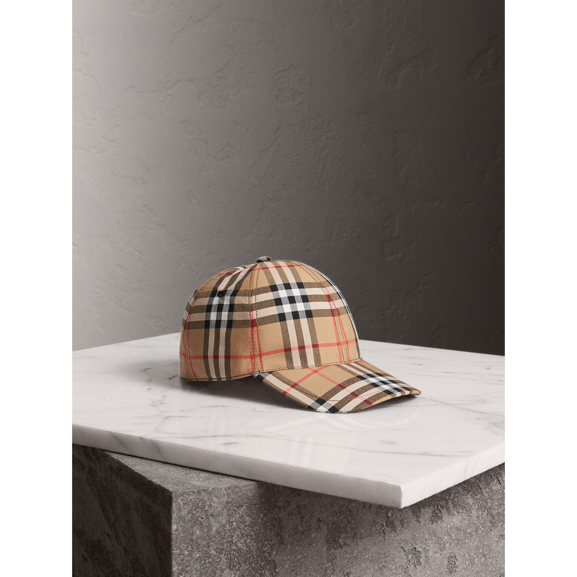Lyst - Burberry Vintage Check Baseball Cap 62b606e8b