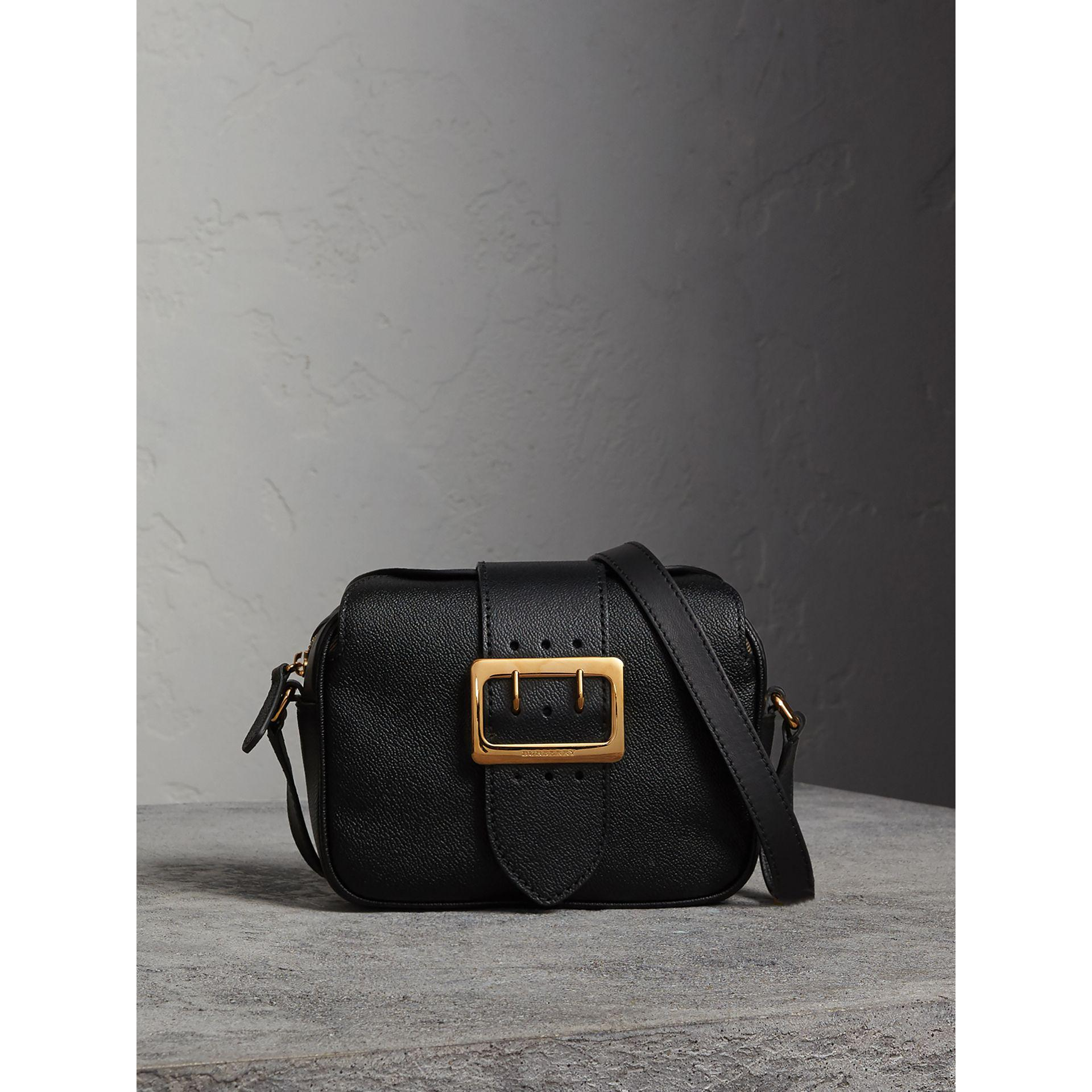 5edb73b9fc01 Lyst - Burberry The Small Buckle Crossbody Bag In Leather in Black