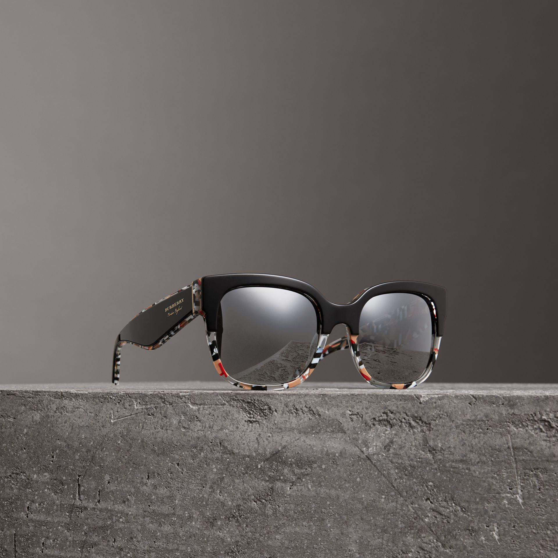 Burberry Patchwork Check Oversize Square Frame Sunglasses Footlocker Cheap Online High-Quality Cheap Newest Sale Online ZHd7Ul2w