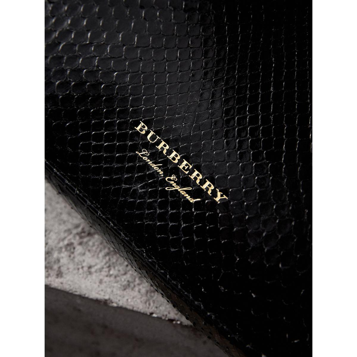 de3761a35be Burberry Small Two-tone Python Frame Bag in Black - Lyst