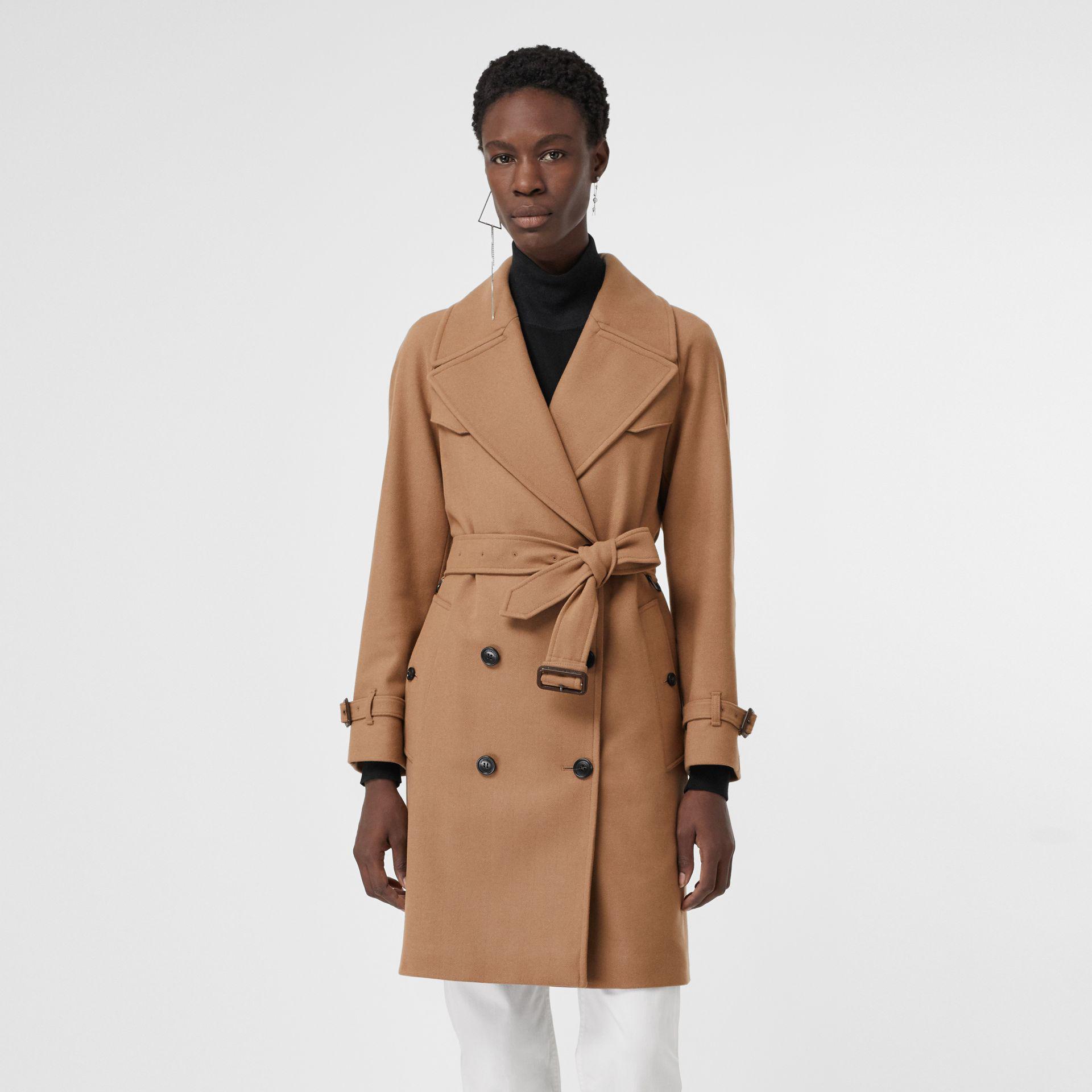 Wool Cashmere Trench View Herringbone Multicolor Burberry Fullscreen Blend Coat Lyst wqT66v