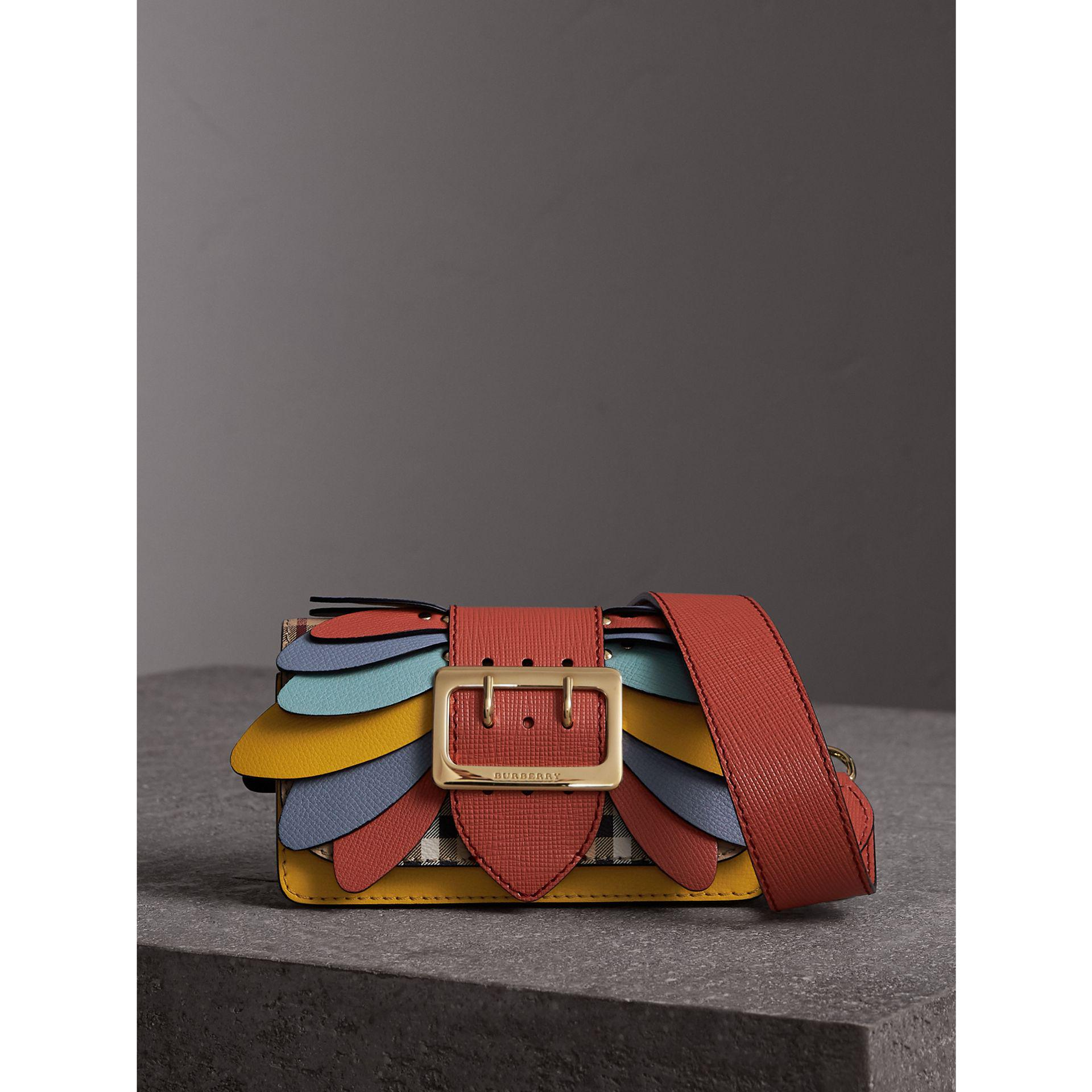 Lyst - Burberry The Small Buckle Bag In Haymarket Check And Leather 5513beebc4914