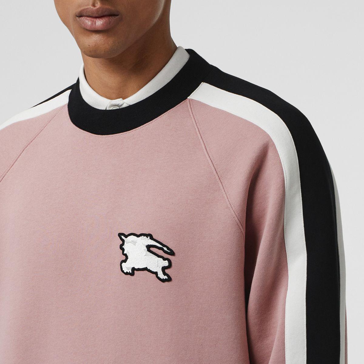 945a9a1e821d Lyst - Burberry Stripe Detail Cotton Jersey Sweatshirt for Men